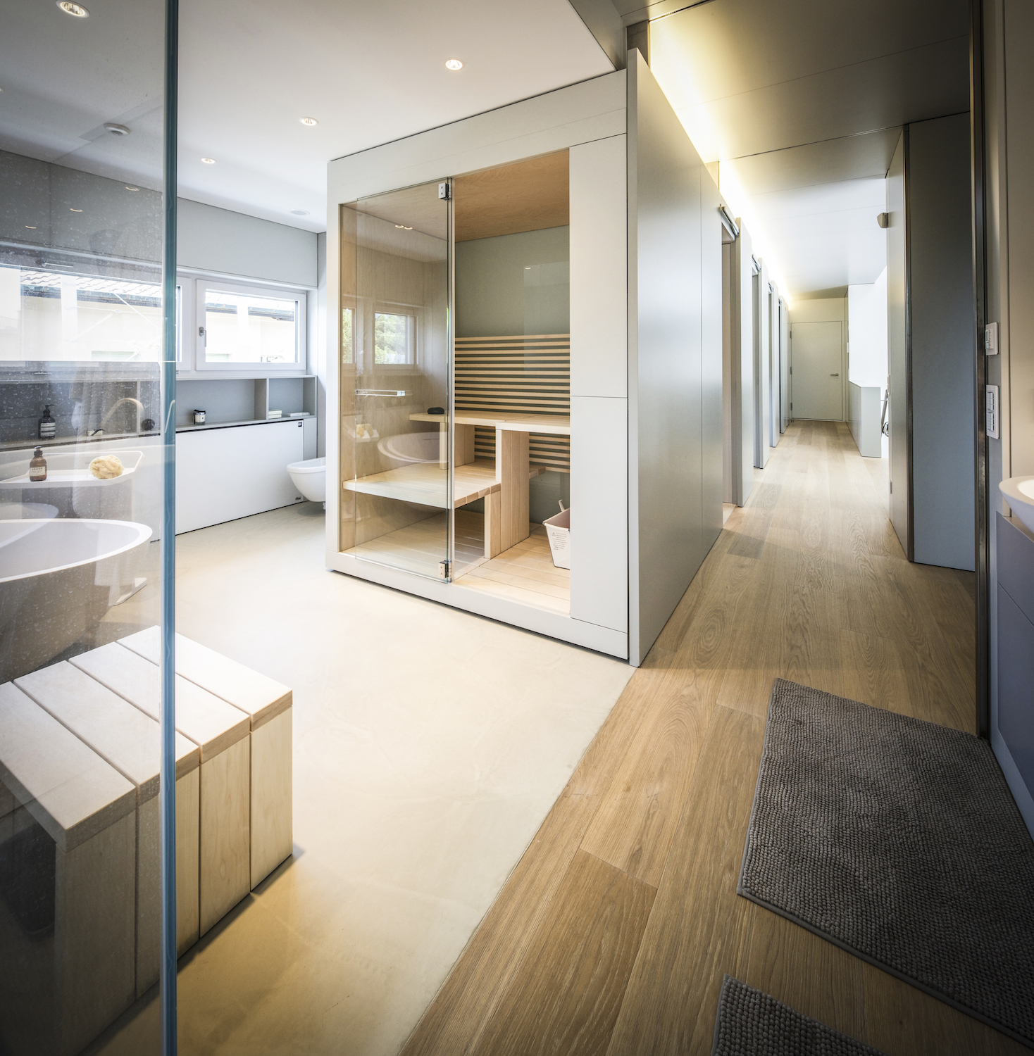 Sauna privata in zona wellness roberto nangeroni photography for Architetto per interni