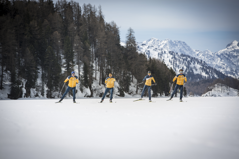 Langlauf nordic ski Sankt Moritz